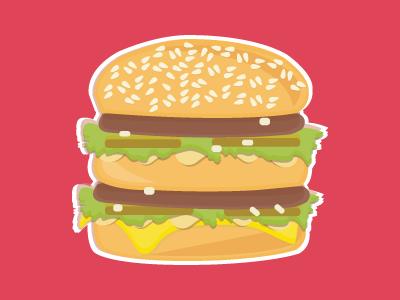 svg royalty free Magnet by sarah bono. Vector burger big mac