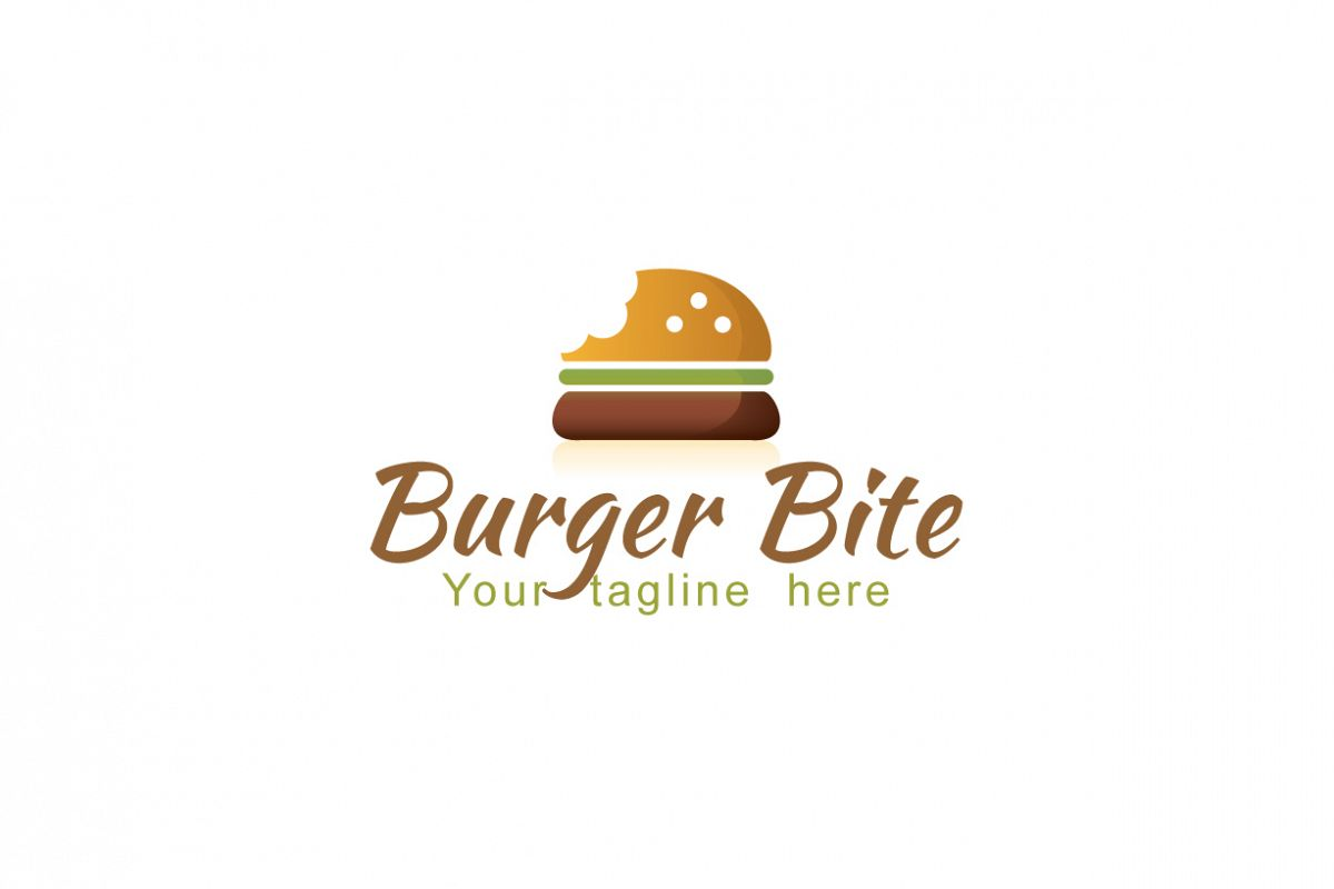 vector library download Vector burger bite. Fast food logo design