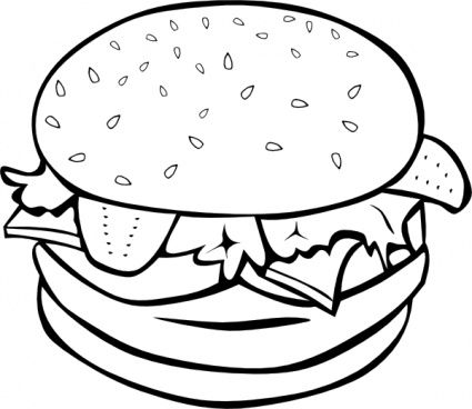 svg free Vector burger black and white. Download vectors page chalk