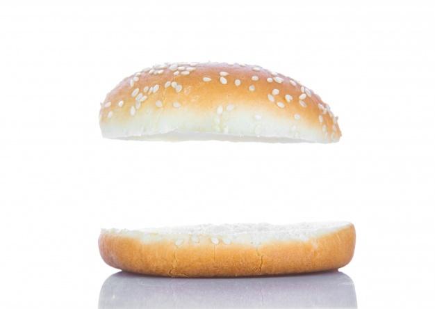 jpg black and white download Bun vectors photos and. Vector burger bread