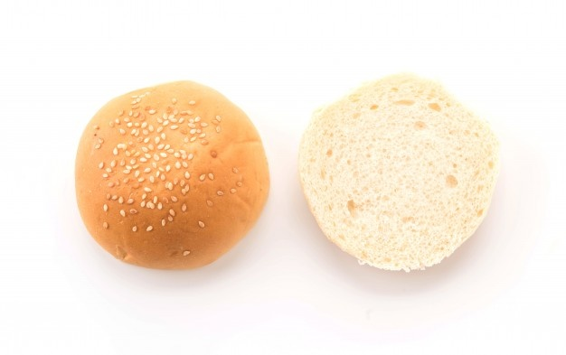 clip black and white download Vector burger bread. Buns vectors photos and