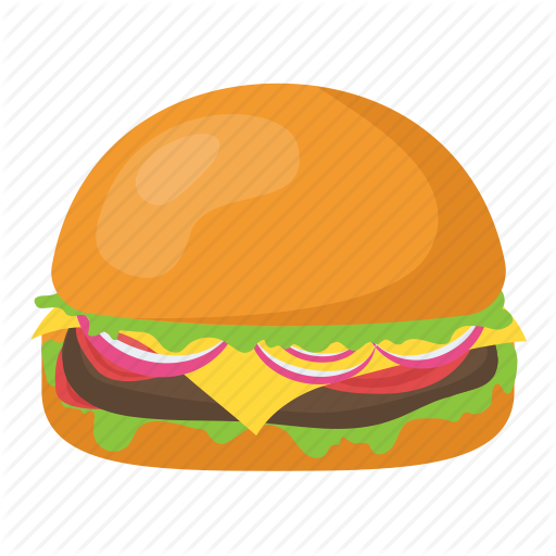 black and white library Vector burger bread. Food and drinks by
