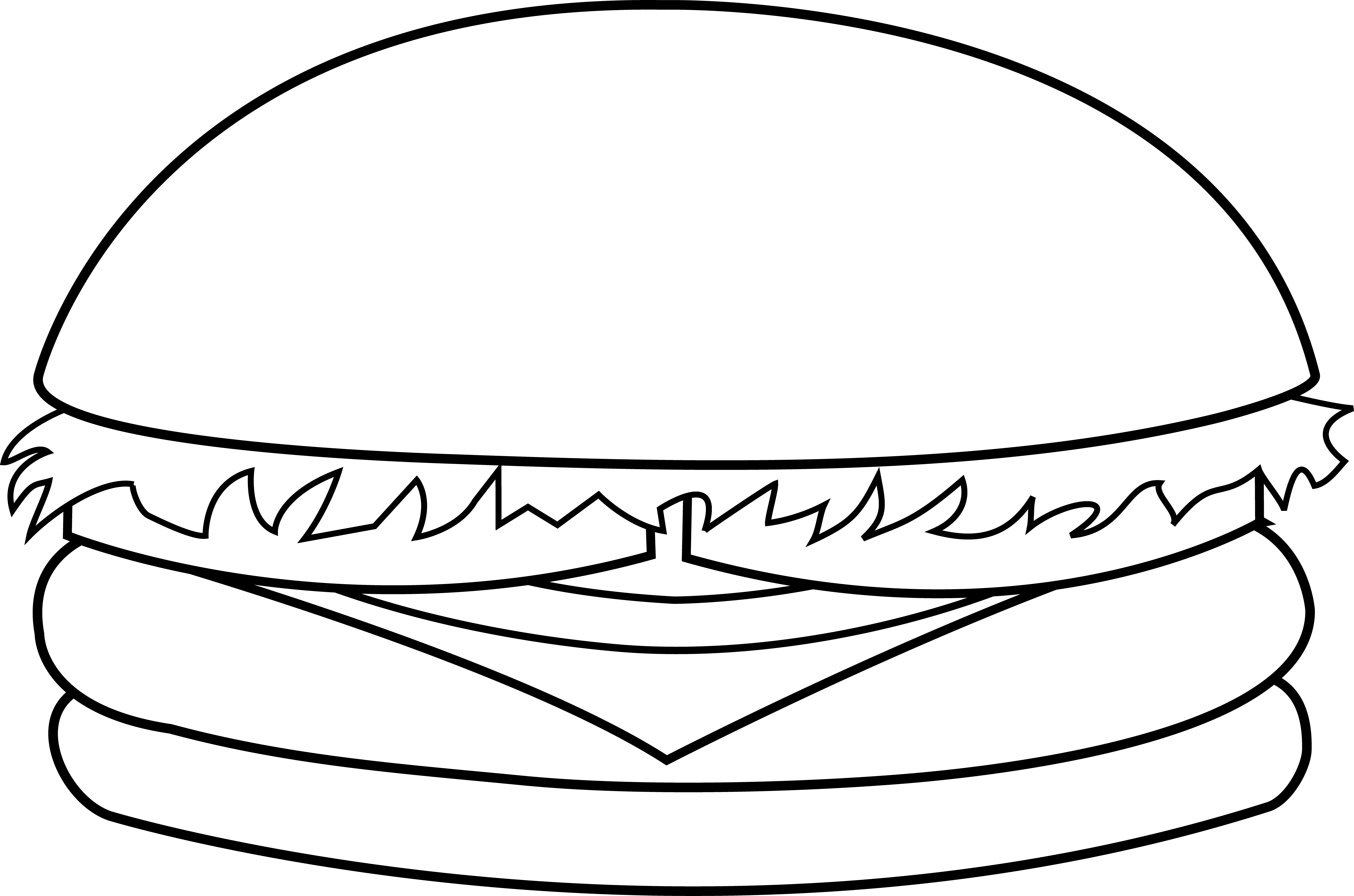image library library Cheeseburger Coloring Page