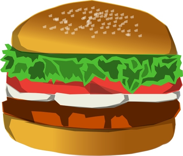 clip art black and white stock Burger clip art Free vector in Open office drawing svg