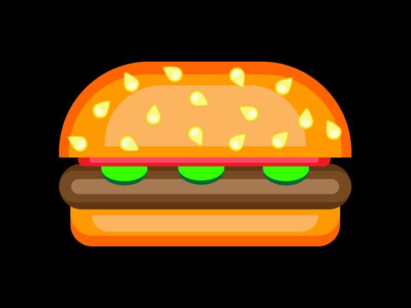 graphic transparent Art by sylvia foster. Vector burger design