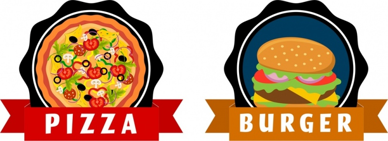 clip royalty free download Vector burger design. Free download for commercial