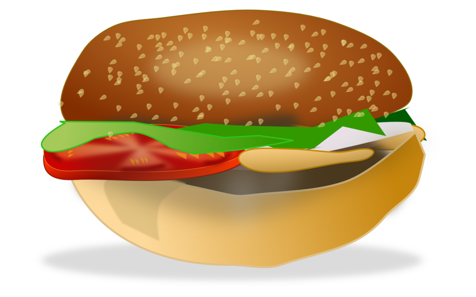 image black and white download Public domain clip art. Vector burger file