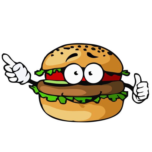 banner library Fast food style hamburgers. Vector burger flyer