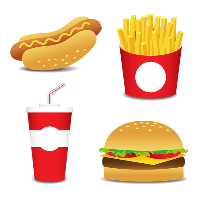vector royalty free Fesat Food Icons Set