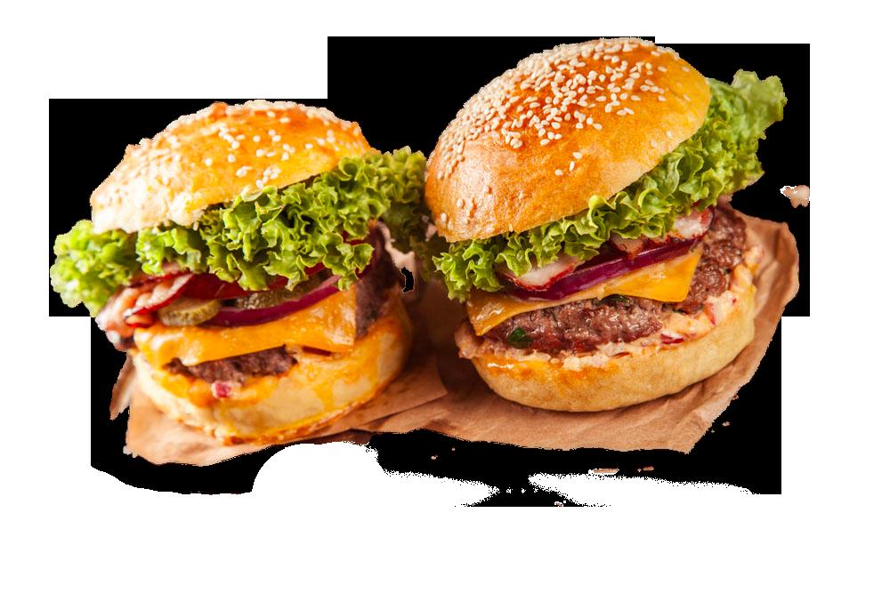 image Hamburger slider fast food. Vector burger gourmet