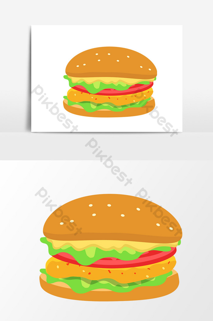 clipart library stock Vector burger graphic. Spicy chicken leg cartoon