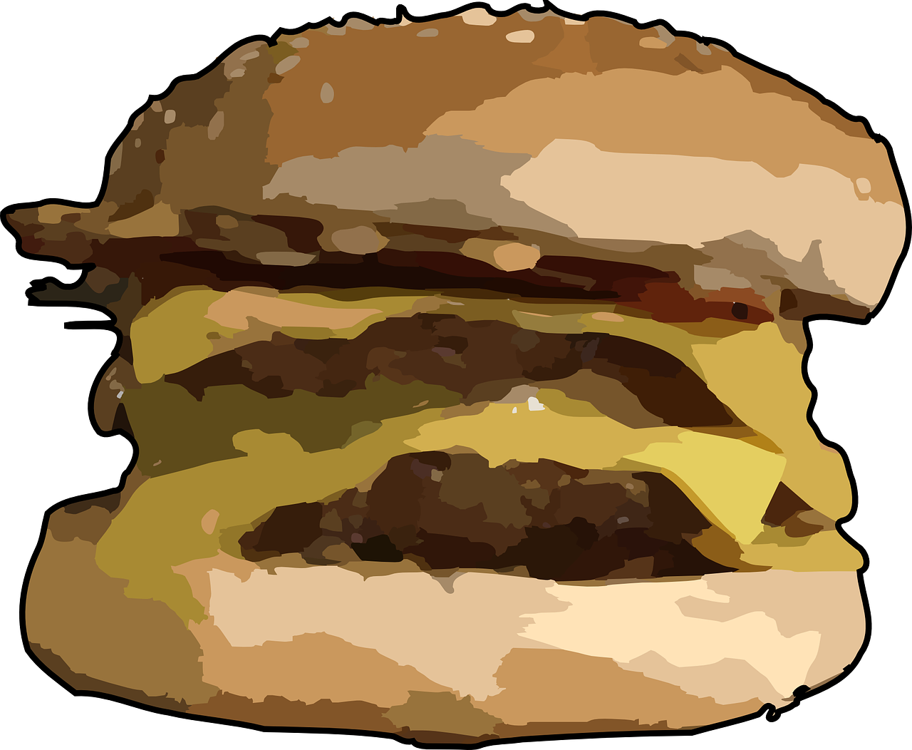 banner royalty free download Sandwich food fast free. Vector burger hamburger
