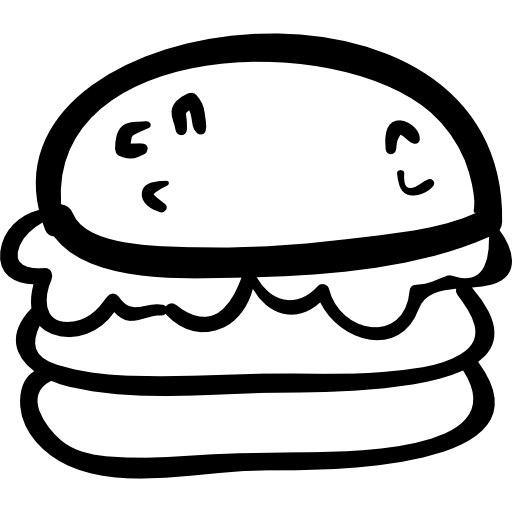 jpg free download Hand drawn burger
