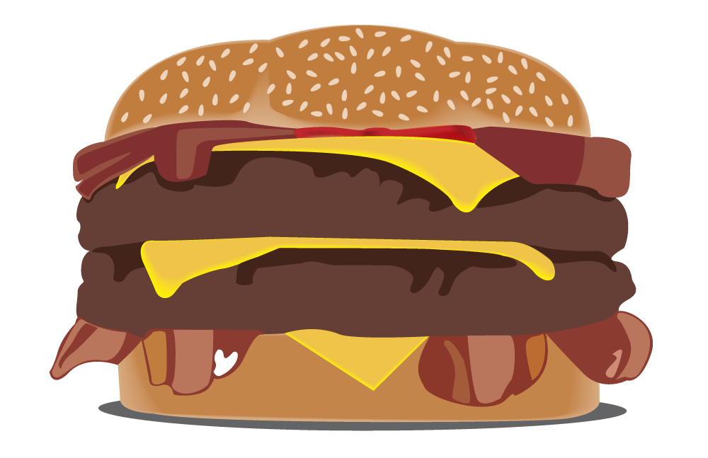 banner library stock Vector burger illustrator. Portfolio of matthew wint