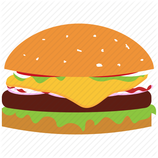 svg royalty free stock Food and drink by. Vector burger illustrator