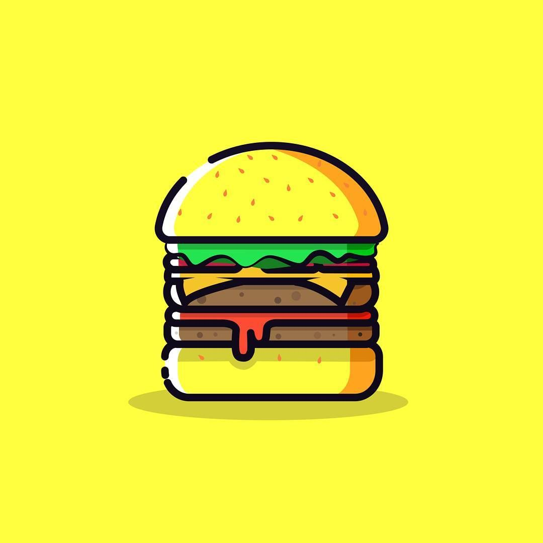 banner stock Art designed designspiration . Vector burger illustrator
