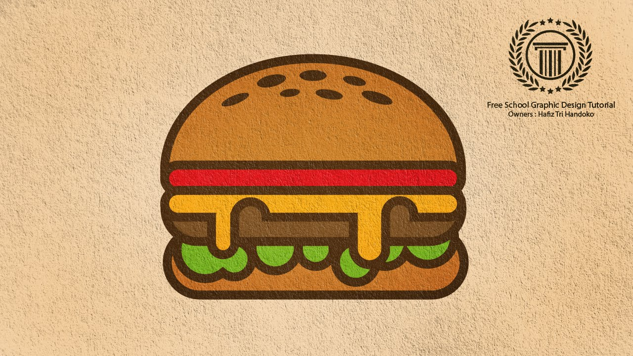 picture freeuse Adobe logo design illustration. Vector burger illustrator