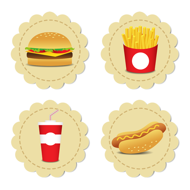 picture library download Vector burger illustrator. Fesat food icons set