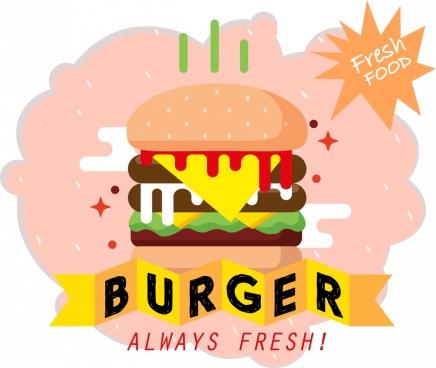 banner transparent stock Vector burger illustrator. Free download for commercial
