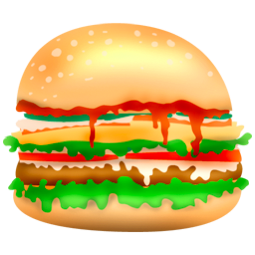 graphic royalty free download Vector burger junk food. Icons by aha soft