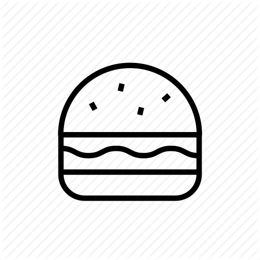 free library Food thinline icons set. Vector burger outline