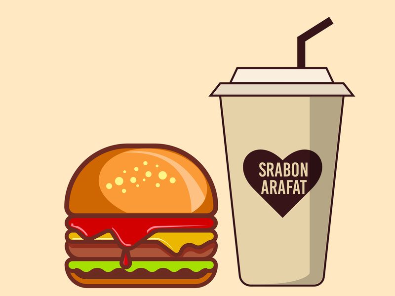 jpg download Burger Real Color by Srabon Arafat on Dribbble