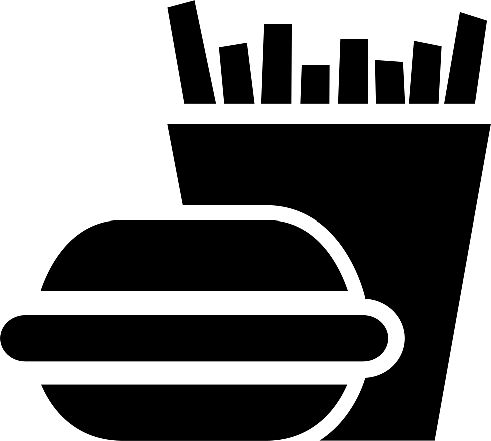 vector library download  fries for free. Vector burger silhouette