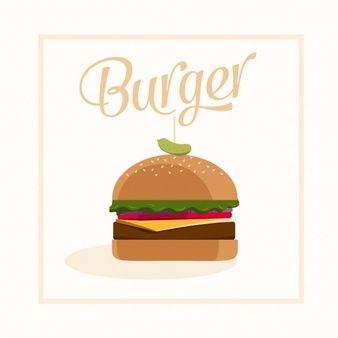clip art royalty free library Vector burger slider. Design karakter in