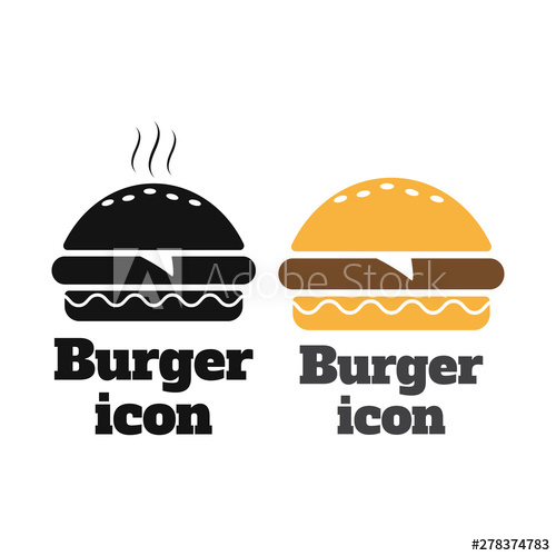 image transparent stock Vector burger symbol. Fast food icon sign