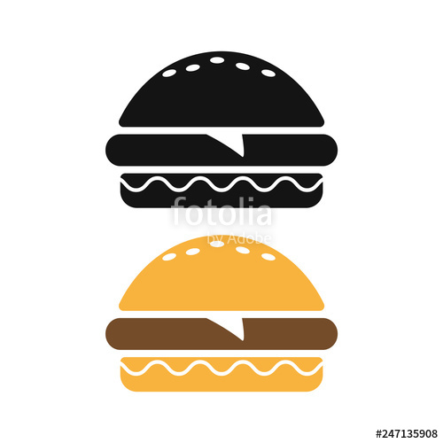 image royalty free download Vector burger symbol. Icon sign or