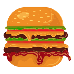 graphic royalty free Burger fast food logo template