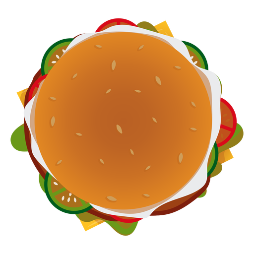 library Burger top view icon