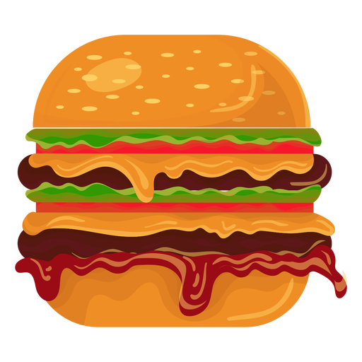picture black and white Vector burger transparent. Double icon png svg