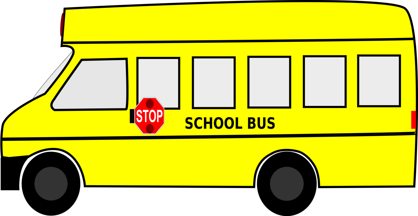 picture black and white download Vector bus banner. School stop freeuse techflourish