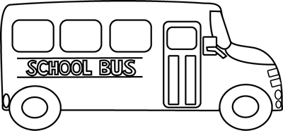 picture library library School clip art. Vector bus black and white