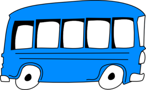 clip transparent stock Blue Bus Clip Art at Clker