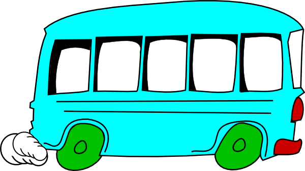 vector black and white download Vector bus blue. Clip art at clker