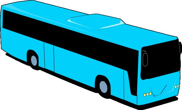vector transparent library Vector bus buss. Blue travel clip art