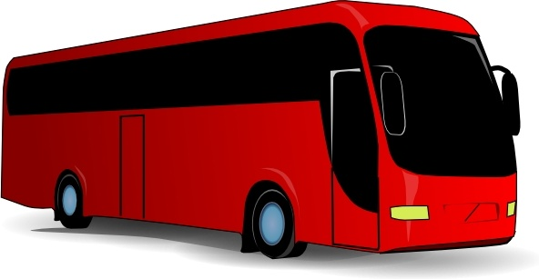 clipart black and white Red travel free in. Vector bus clip art