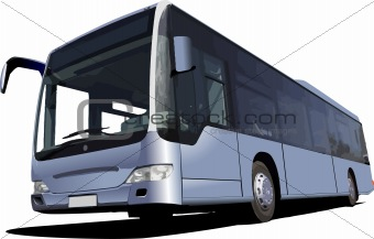 jpg free library Vector bus coach. Image blue tourist illustration