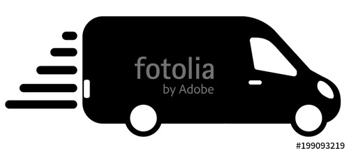 graphic stock Vector bus delivery. Icon for service flat