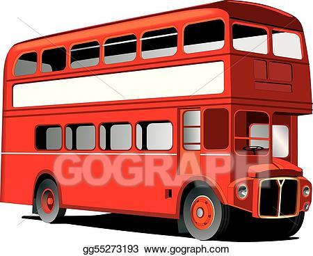 jpg black and white Eps london stock clipart. Vector bus double decker