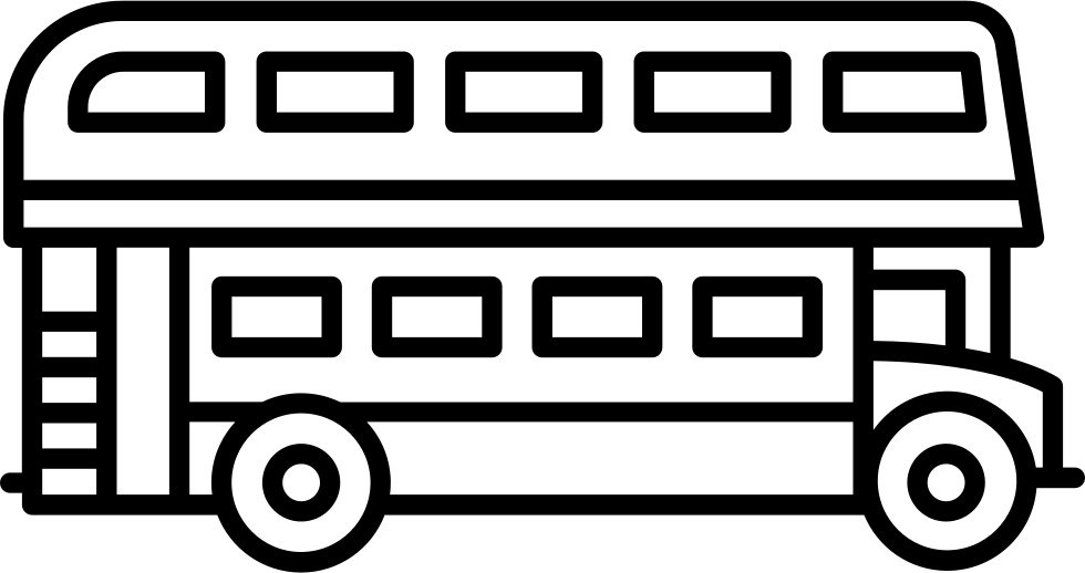 banner freeuse stock Vector bus double decker. Svg png icon free