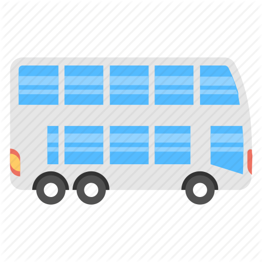 clipart black and white download Transport by creative stall. Vector bus double decker
