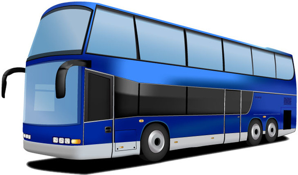 svg black and white library Vector bus double decker. Free download
