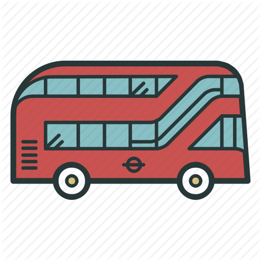 banner stock vector bus double decker #107533669