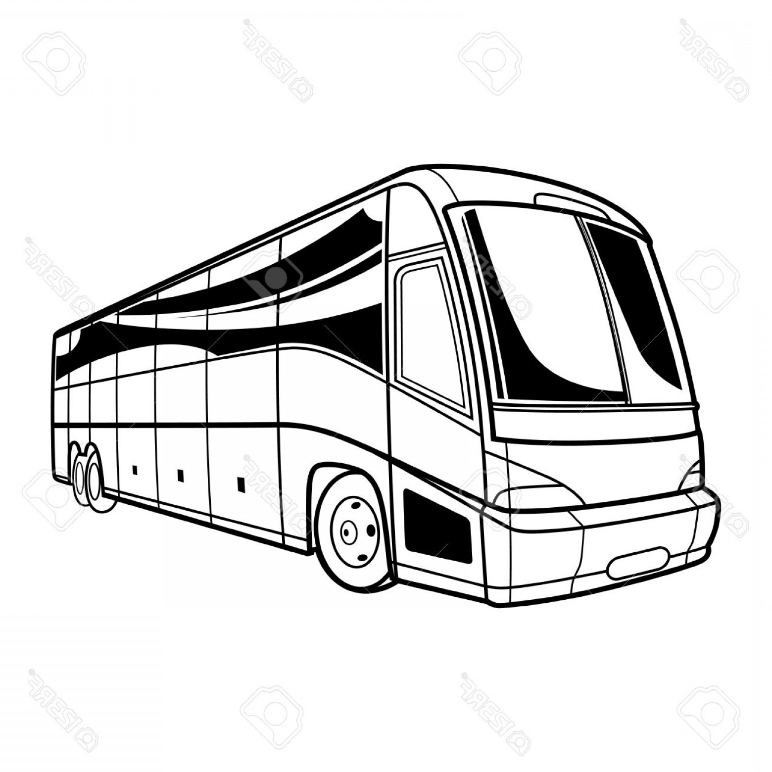 jpg download Vector bus drawing. Tour at paintingvalley com