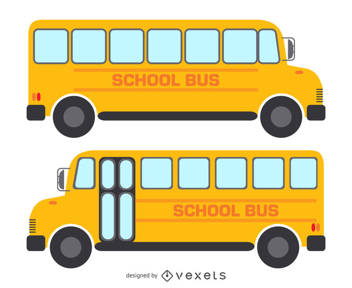 freeuse  isolated school drawings. Vector bus drawing
