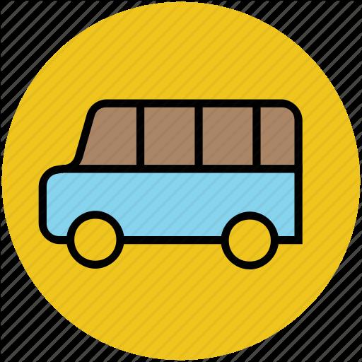 picture Education circular by vectors. Vector bus mini