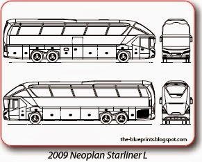 clip transparent stock Vector bus neoplan. Blueprints cars trucks busses